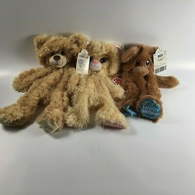 3 Build A Bear (H) Birthday Bundle: New With Tags Unstuffed