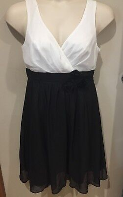 TARGET WOMEN'S DRESS..SIZE 14..black/white...fully lined...very good cond.