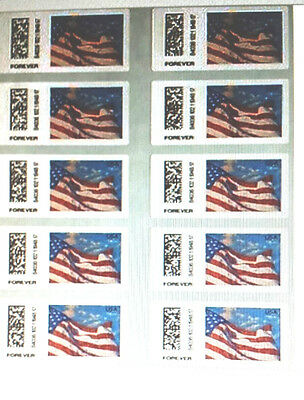"""200 USPS  Forever Stamps 10 Sheets / Books 20  """" Look Now """" $82.50"""