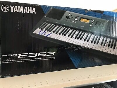 Yamaha PSR-E363 61-key portable Keyboard Piano.  In original box.