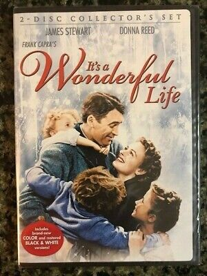 Its a Wonderful Life (DVD, 2007, 2-Disc Collectors Set) James Stewart Donna Reed