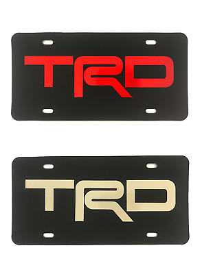Toyota TRD carbon fiber VANITY LICENSE PLATE Car truck sports tag abstract Red