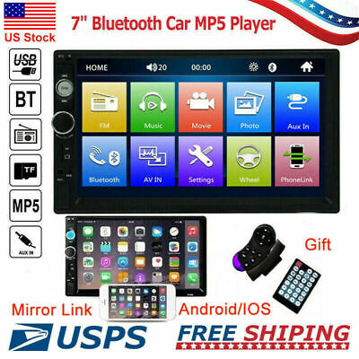 """2 DIN 7"""" Touch Mirror Link Car Stereo Radio MP5 Player Remote Control Bluetooth"""