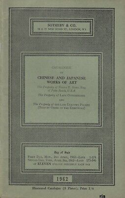 Catalogue Chinese Japanese Works of Art Estate Lady Oppenheimer Sotheby &Co 1962