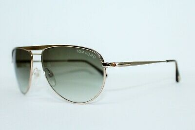 d8d84e191 Tom Ford Tf 207 28F William Gold Brown Gradient Aviator Sunglasses Italy 59  Mm