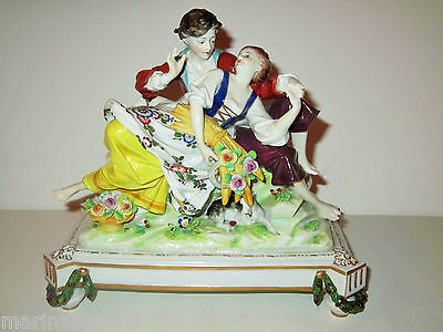Beautiful German Antique Porcelain Figurine Statue
