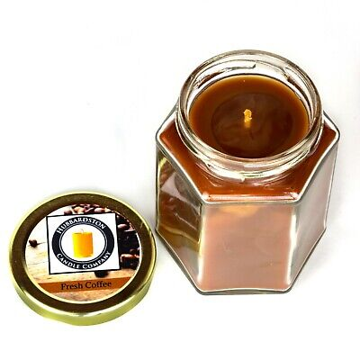 Fresh Coffee Scented Pure Beeswax Jar Candle, 8 oz