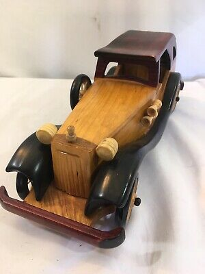 New Unique Handmade Scaled Wooden Wood Collectible Model T Toy Car