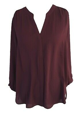 c9e6a67d NYDJ Not Your Daughter's Pintuck Pleat Back Blouse Burgundy Size XS $88 ...