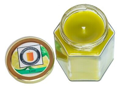 Lime Scented Pure Beeswax Jar Candle, 8 oz