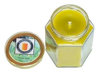 White Sage Scented Pure Beeswax Jar Candle, 8 oz