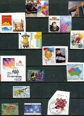 Australian Stamps Unusual/Different (5 on paper) Used/Bulk