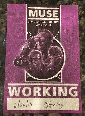 MUSE 2019 Simulation Theory CONCERT Tour Backstage Working Crew PASS Very RARE