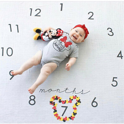 0-6 month Baby Blanket First Year Monthly Newborn Memory Photography Photo Props