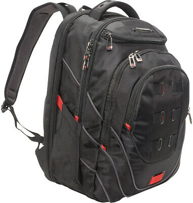 "Samsonite Tectonic PFT 17"" Backpack - Black/Red Business Laptop Travel Backpack"