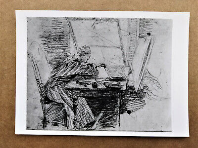 French Painter ANTOINE WATTEAU - ENGRAVER SEATED AT A TABLE Photo Postcard