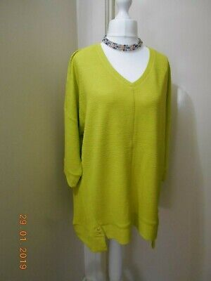 NWT Taking Shape chartreuse Wavely Luxe Top - size L (20-22)