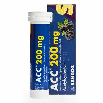 ACC 200 mg tablets-For liquefying viscous mucus in the airways-20 tablets