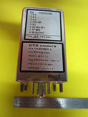 CTS 2.73525 MHz FREQUENCY STANDARD QUARTZ OSCILLATOR