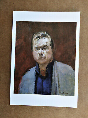 FRANCIS BACON Ruskin Spear Artist Signed - National Portrait Gallery Postcard