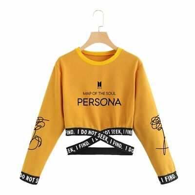 BTS Map Of The Soul Persona Cropped Sweatshirts / 2019 Kpop Trendy Clothes