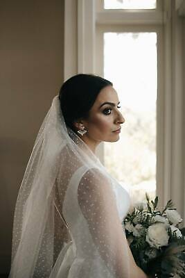 Wedding Veil - French spotted tulle