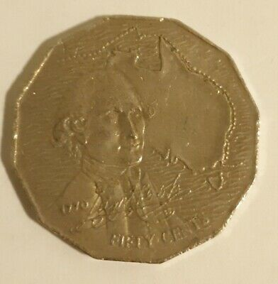 1970 50c Fifty cent Australian Coin Captain Cook circulated