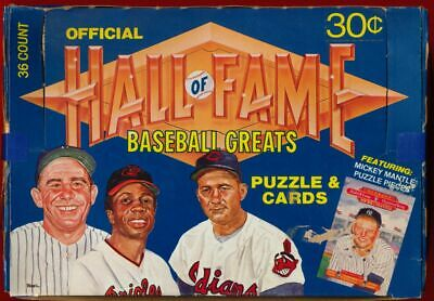 1983 Donruss Hall Of Fame Greats-Heroes Box 36/8-Mantle Cards & Puzzle Nrmt/Mt!!