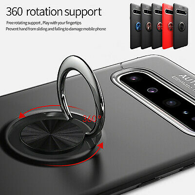 For Samsung Galaxy S10 5G S10 Plus S10e Case Hybrid Ring Stand Magnet Slim Cover