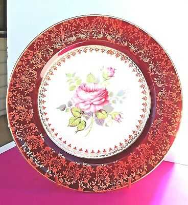 Antique Royal Alma Hand Painted and Gilded Display Plate Stunning Item