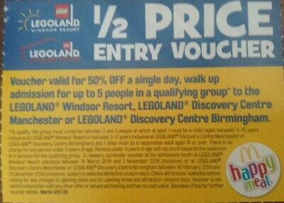 LegoLand 1/2 Price GROUP Entry Ticket (up to 5)