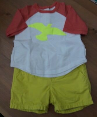 Baby boy GAP t-shirt and shorts bundle/set. Size 3-6months.very good condition