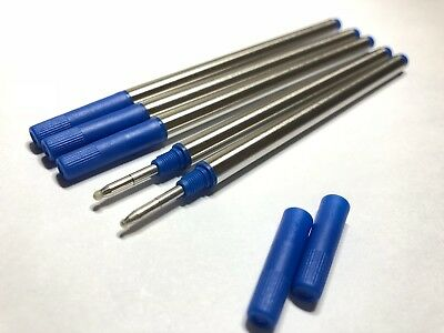 5x BLUE Generic Mont Blanc Rollerball Pen Refills- Medium Point