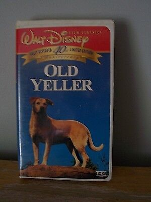 Disney Vhs 40Th Anniversay Limited Edition Clamshell - Old Yeller - Good