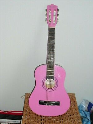 Pink Children's Acoustic Guitar with case