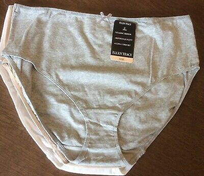 19efee7e19cc 3 Pack Ellen Tracy Cotton Classic Brief Panties Size 8 XL NWT 51440