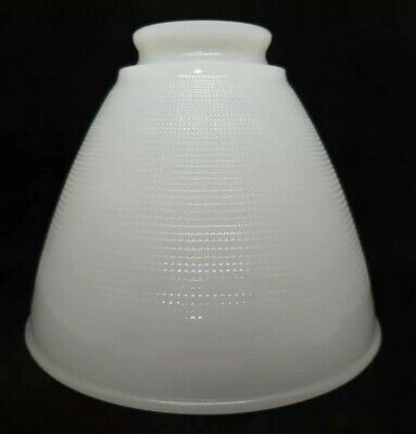 Vintage Allegheny 3 White Milk Glass Torchiere Diffuser Lamp Shade - 6 Inch