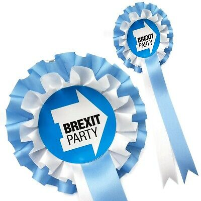 Brexit Party Blue and white Supporters Rosette SPECIAL EDITION Collector 2019