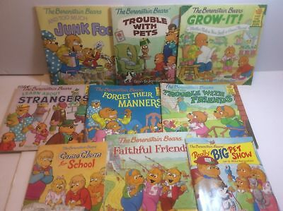 The Berenstain Bears Lot of 9 Paperback books Strangers + Manners + Pets +