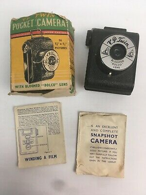 Vintage Photograph VP Pocket Camera Bloomed Bolco Lens With Box and Manual