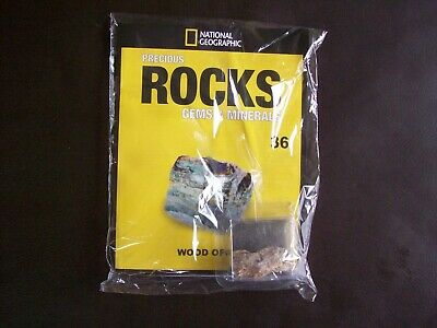 National Geographic Precious Rocks Gems & Minerals Magazine Issue 36 Wood Opal