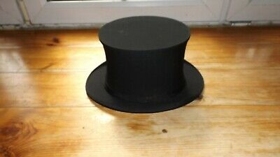 Antique 'Meakers' Collapsible Opera Top Hat Piccadilly black in original box