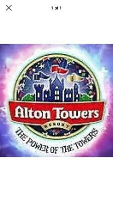 Alton Towers e Tickets X2 for Sunday 14th JULY 2019 14/7/19 only adult or child