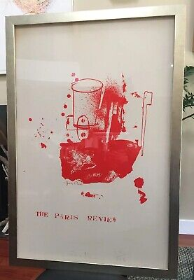 JIM DINE Signed Limited Edition LITHOGRAPH Numbered THE PARIS REVIEW #26 of 150