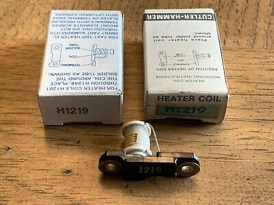 Lot Of 2 New! Eaton / Cutler-Hammer Overload Relay Thermal Heater Elements H1219
