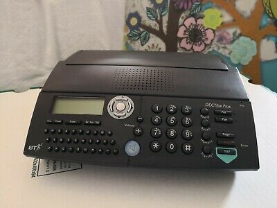 Bt Fax Machine Dect Fax Plus Granite Grey