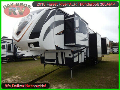 16 Forest River XLR Thunderbolt 385AMP Toy Hauler Fifth Wheel Camper RV Towable