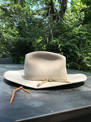 0bed83d3e2c7c VINTAGE STETSON BILLY The Kidd Hat Brown Size 58 7 1 8 SIGNED BILLY ...