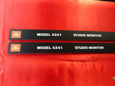 Pair JBL 4341 Front panel  Labels ( grill logo 2Pcs ) 4341 with fixture