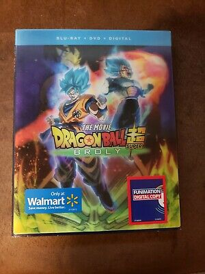 Dragon Ball Super: Broly (Blu-ray + DVD + Digital) w/ Slip Cover **FREE SHIPPING